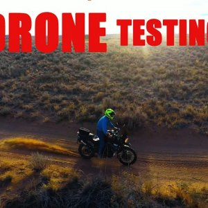 Staaker Drone Follow-Me Motorcycle Testing.